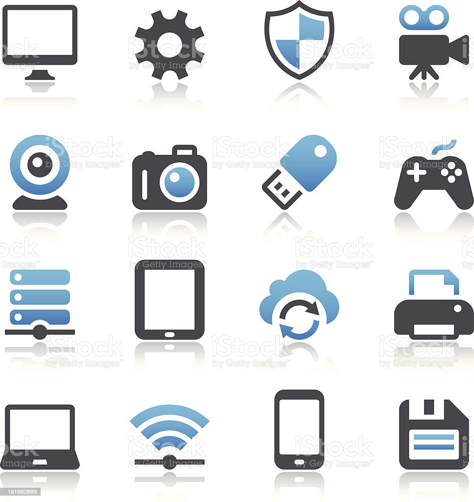 Device Icons vector art illustration