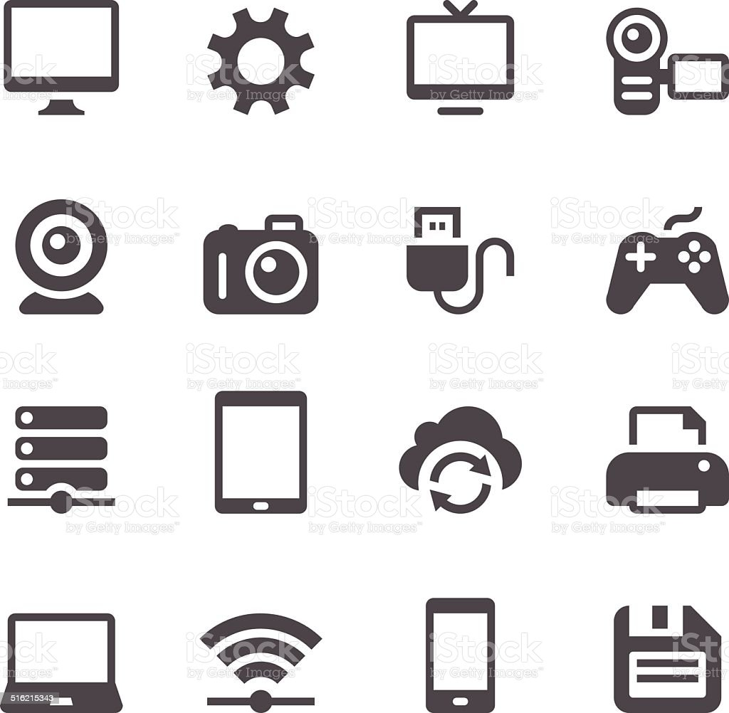 Device Icons vector art illustration