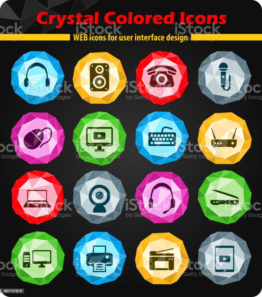 Devices simply icons vector art illustration