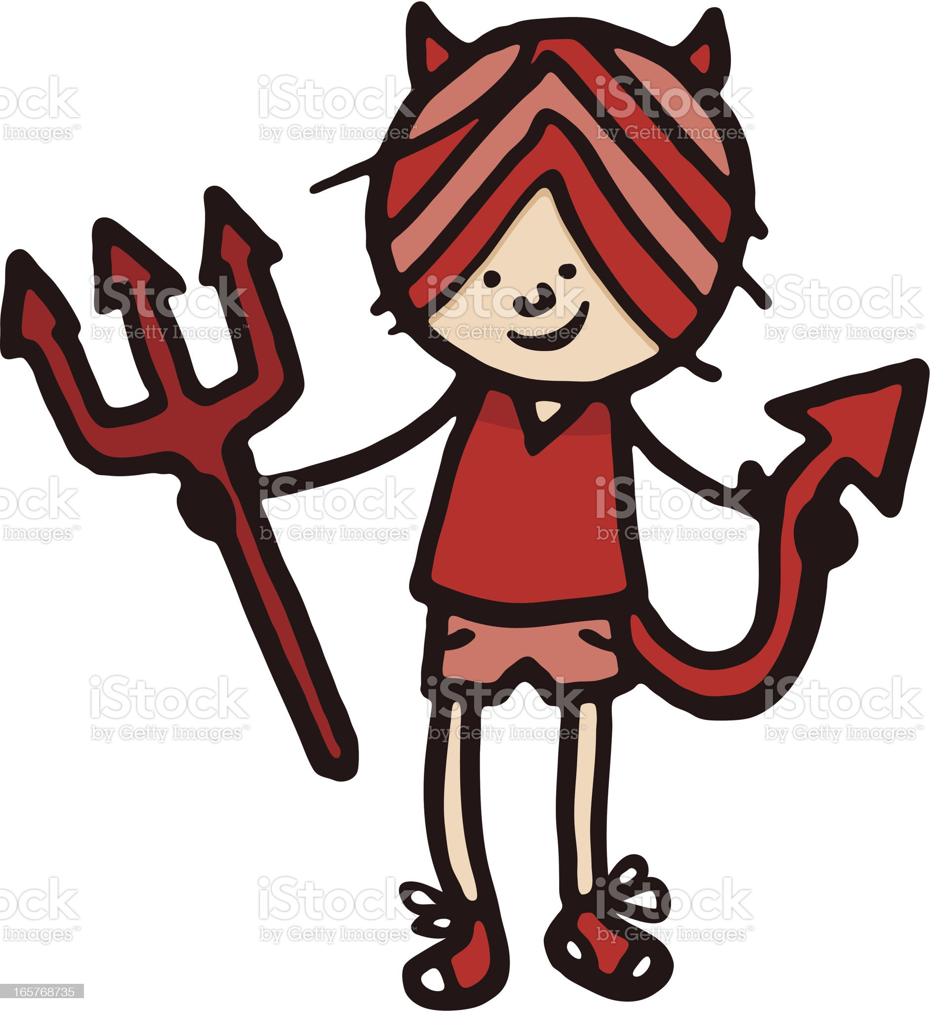 Devil boy royalty-free stock vector art
