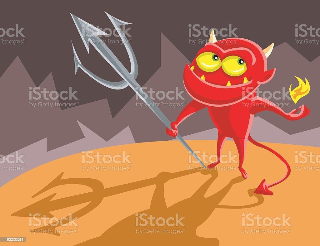 Devil Boy vector art illustration