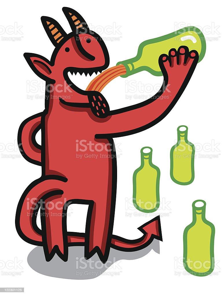 devil drink beer royalty-free stock vector art