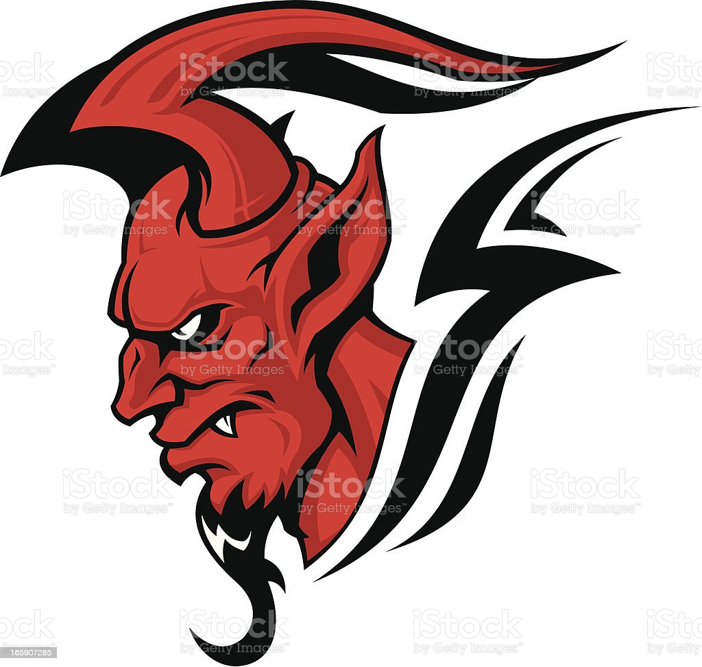 Devil head royalty-free stock vector art