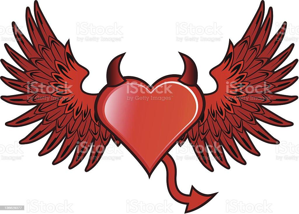 Devil Heart royalty-free stock vector art