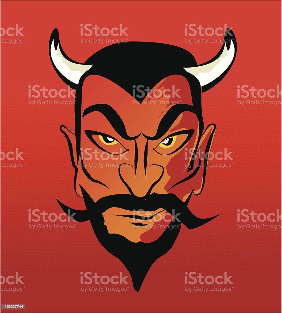 devil retro style royalty-free stock vector art