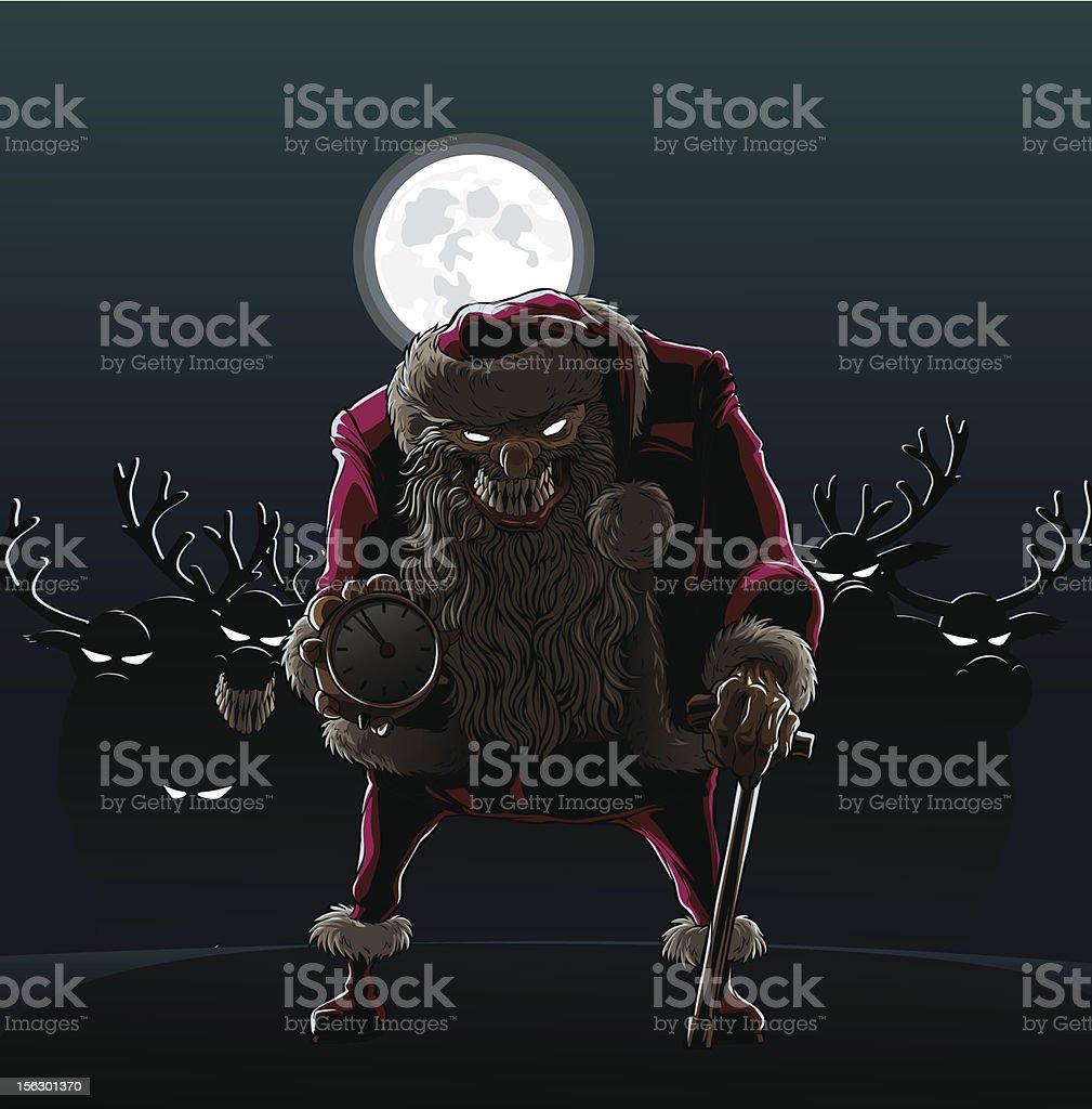 Devil Santa Claus vector art illustration