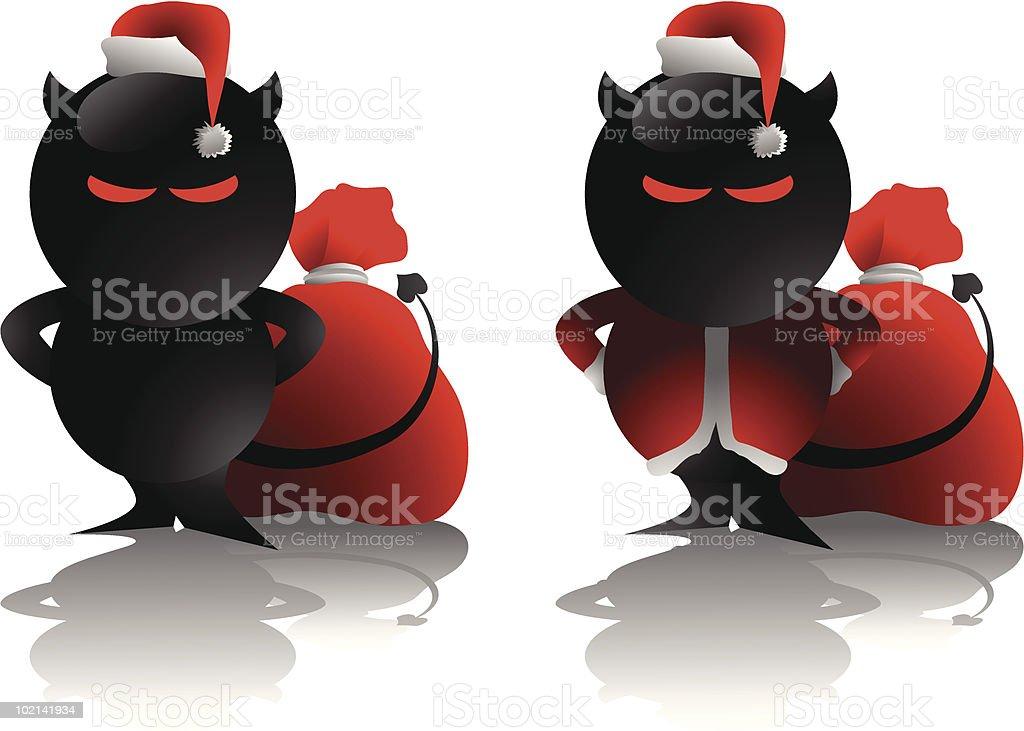devil santa royalty-free stock vector art