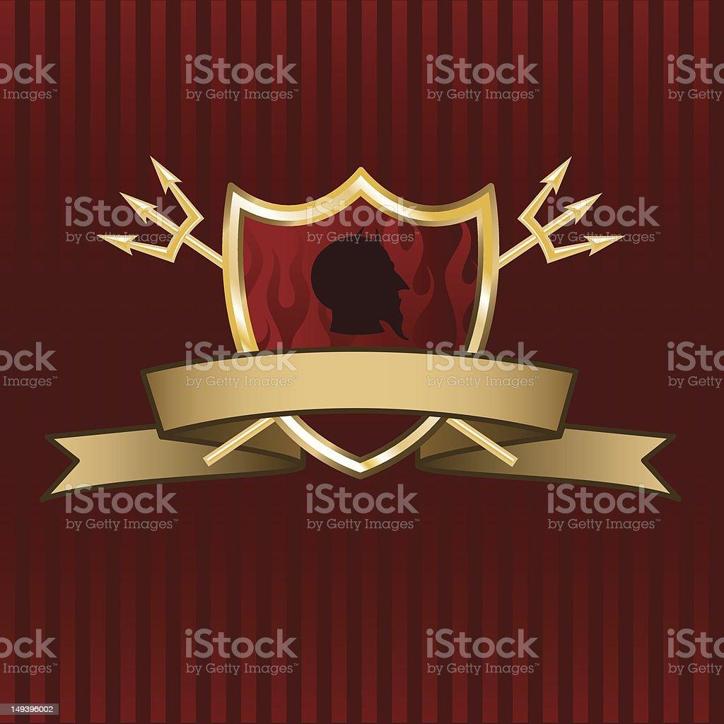 Devil Shield & Banner royalty-free stock vector art
