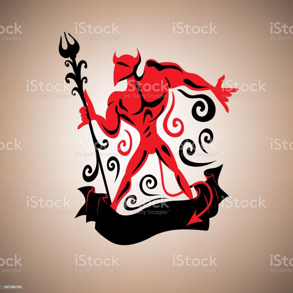 Devil vector art illustration