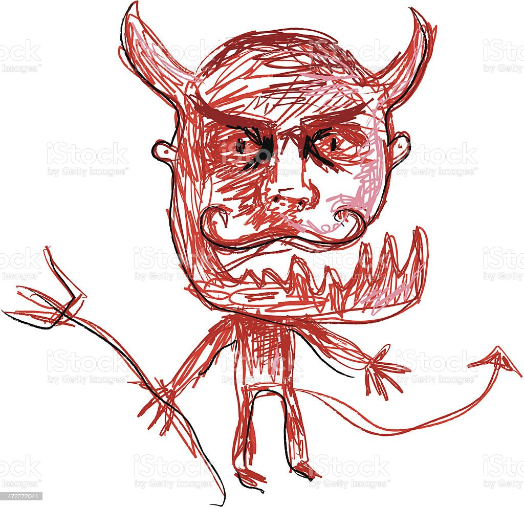 devil royalty-free stock vector art