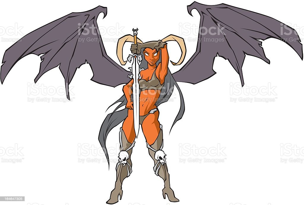 Devil Woman royalty-free stock vector art