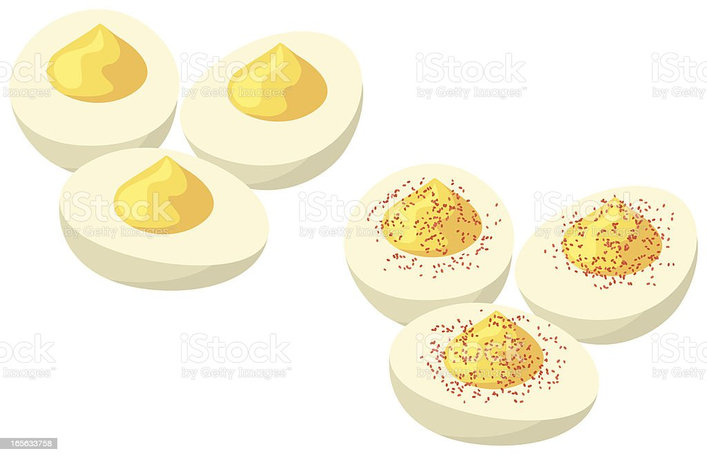 Deviled Eggs vector art illustration