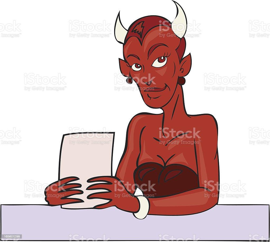Devils Advocate royalty-free stock vector art