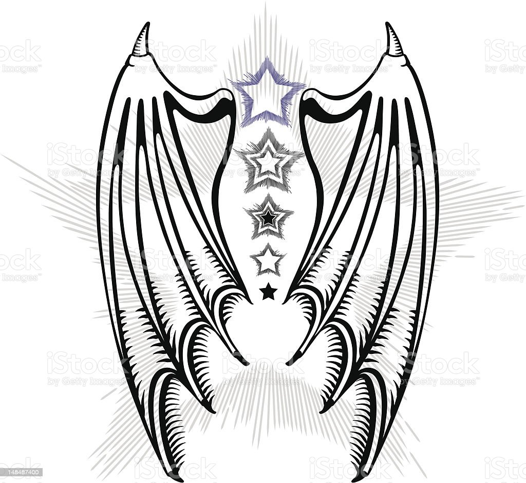 Devil's wings royalty-free stock vector art