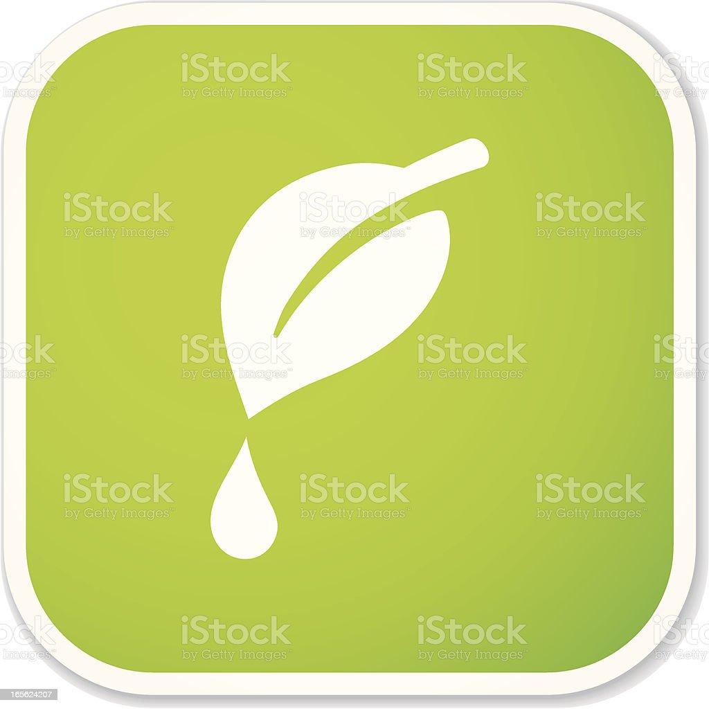 dew drop sq sticker royalty-free stock vector art