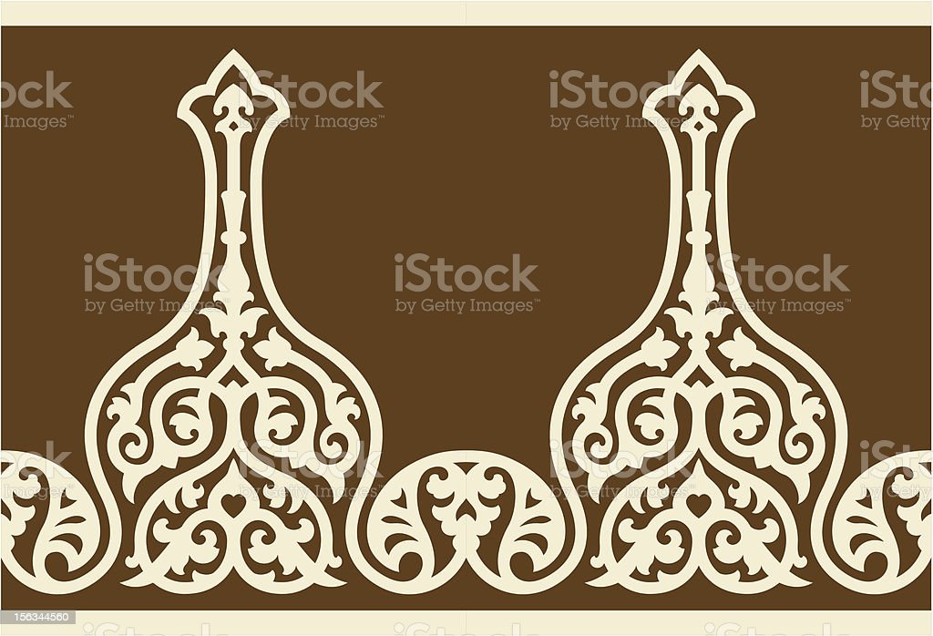 Dhanbad Seamless Border royalty-free stock vector art