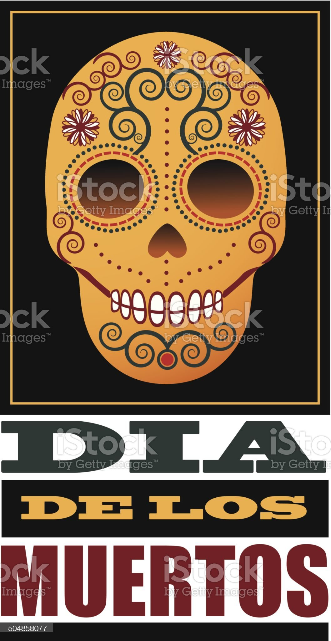 Dia de Los Muertos Day of the dead design element royalty-free stock vector art