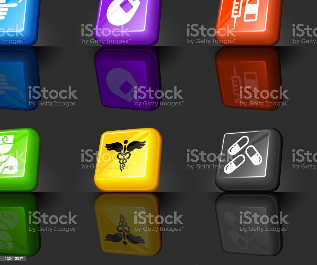 Diabetes health care internet royalty free vector icon set royalty-free stock vector art