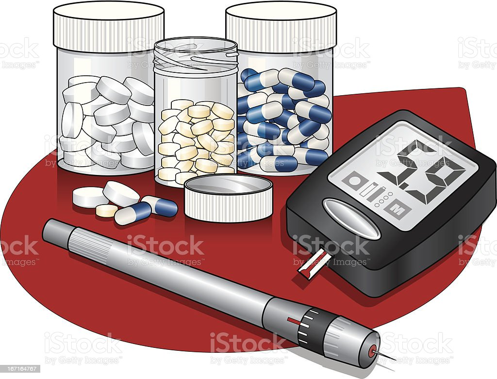 Diabetes_Care royalty-free stock vector art