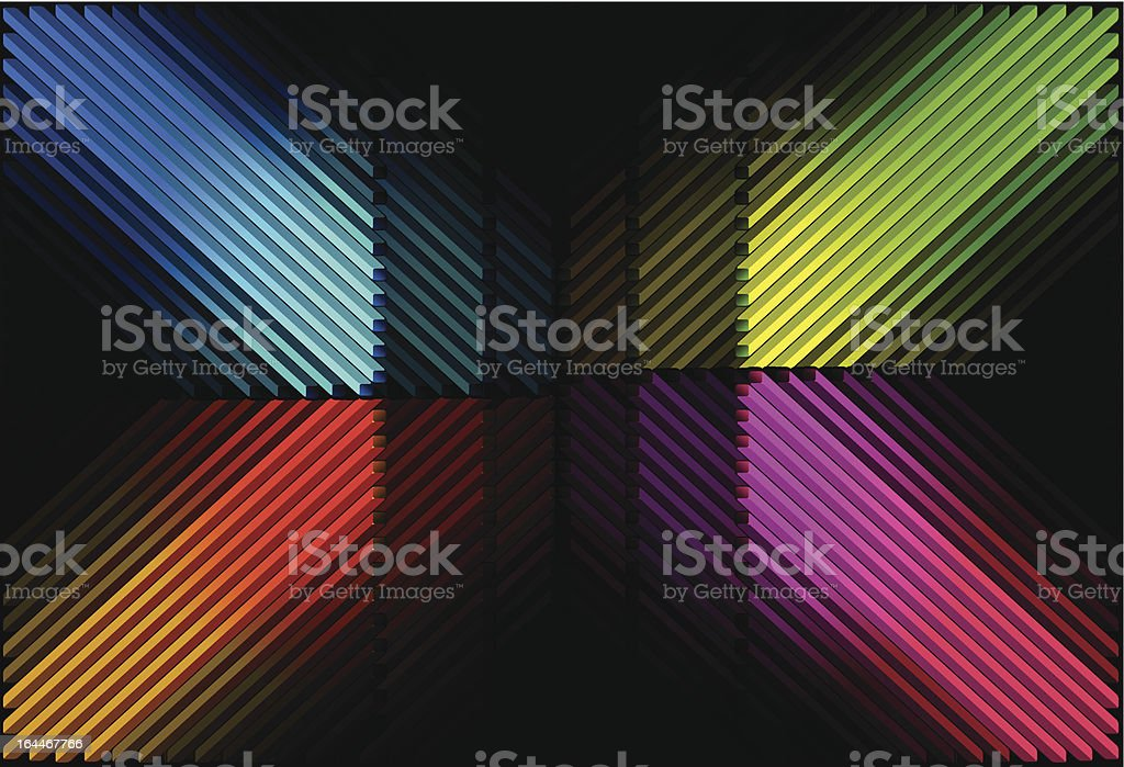 Diagonal color bars royalty-free stock vector art