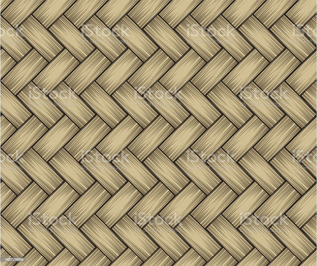 Diagonal Rattan Seamless royalty-free stock vector art