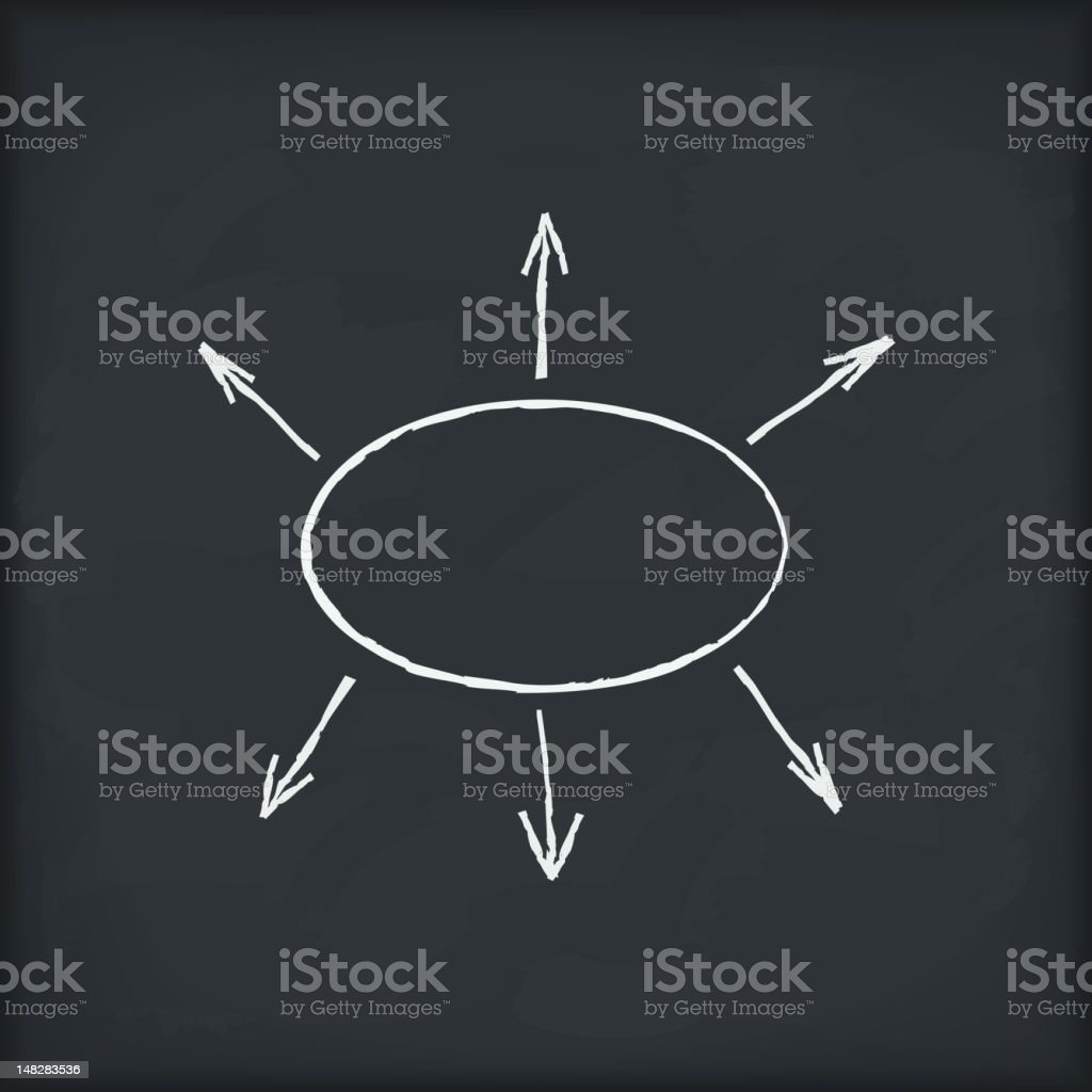Diagram on blackboard royalty-free stock vector art