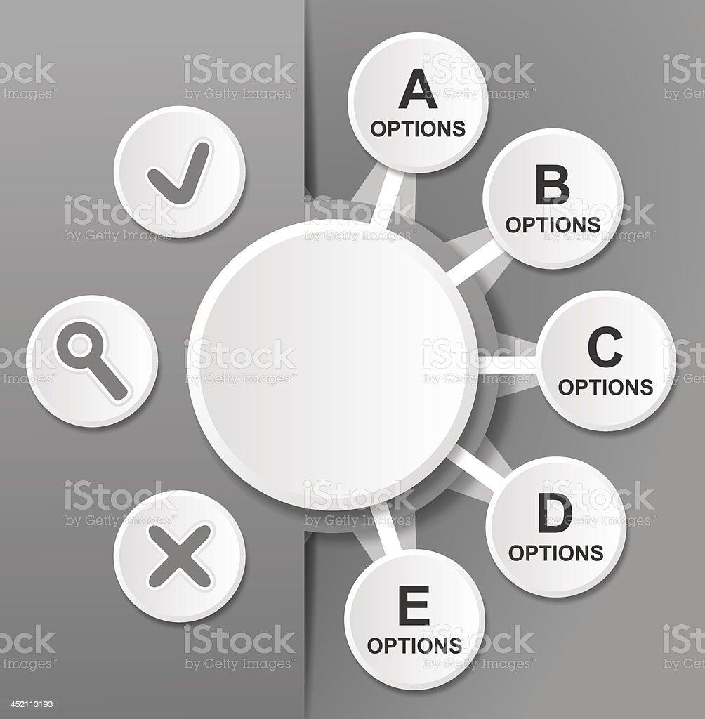 Diagram Template royalty-free stock vector art