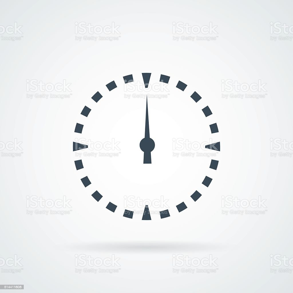 Dial clock Icon Vector. vector art illustration