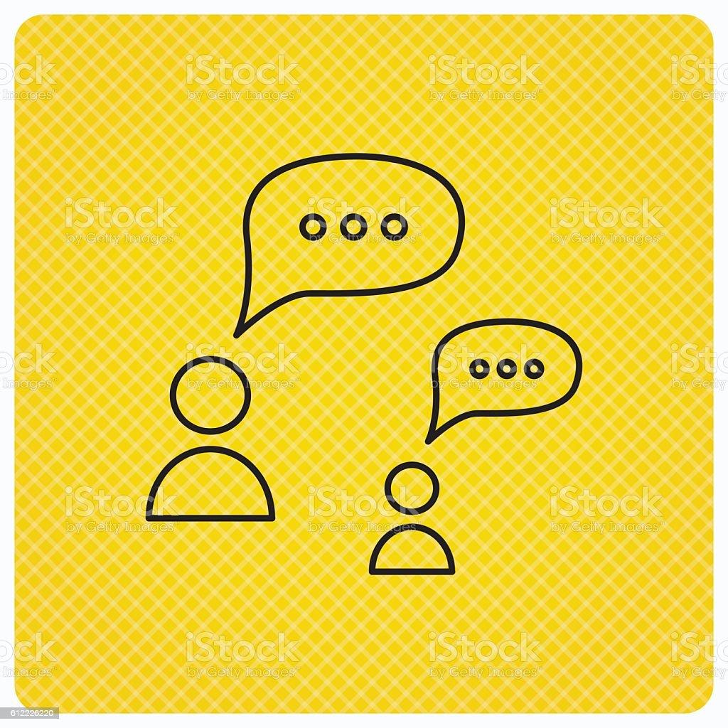 Dialog icon. Chat speech bubbles sign. vector art illustration