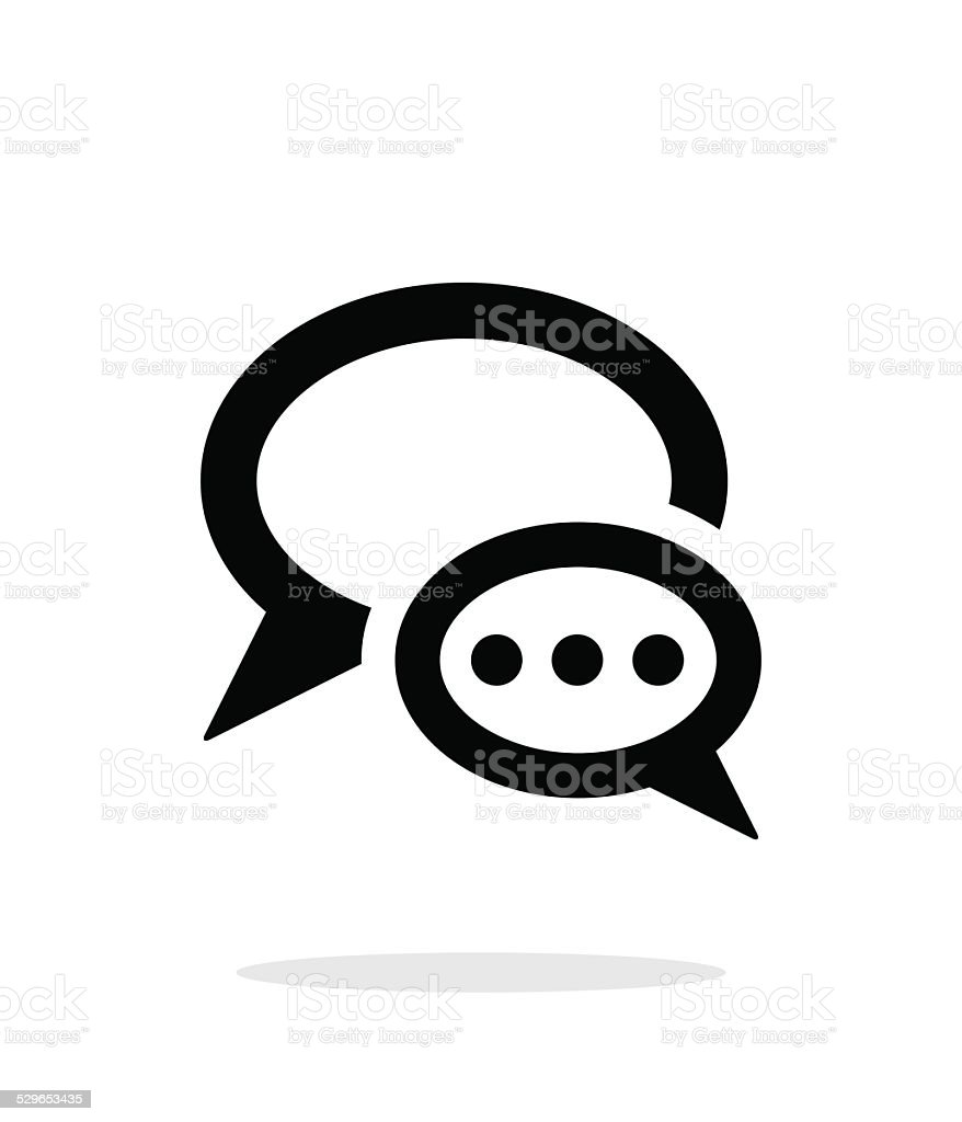Dialogue bubble icon on white background. vector art illustration