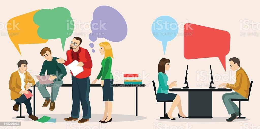 dialogue vector art illustration
