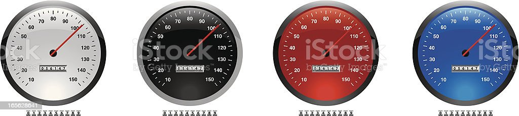 dials speed royalty-free stock vector art