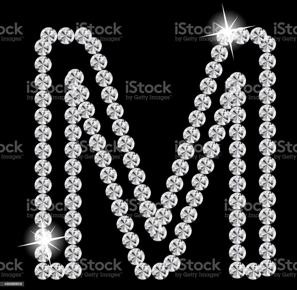 Diamond Alphabet vector illustration. royalty-free stock vector art