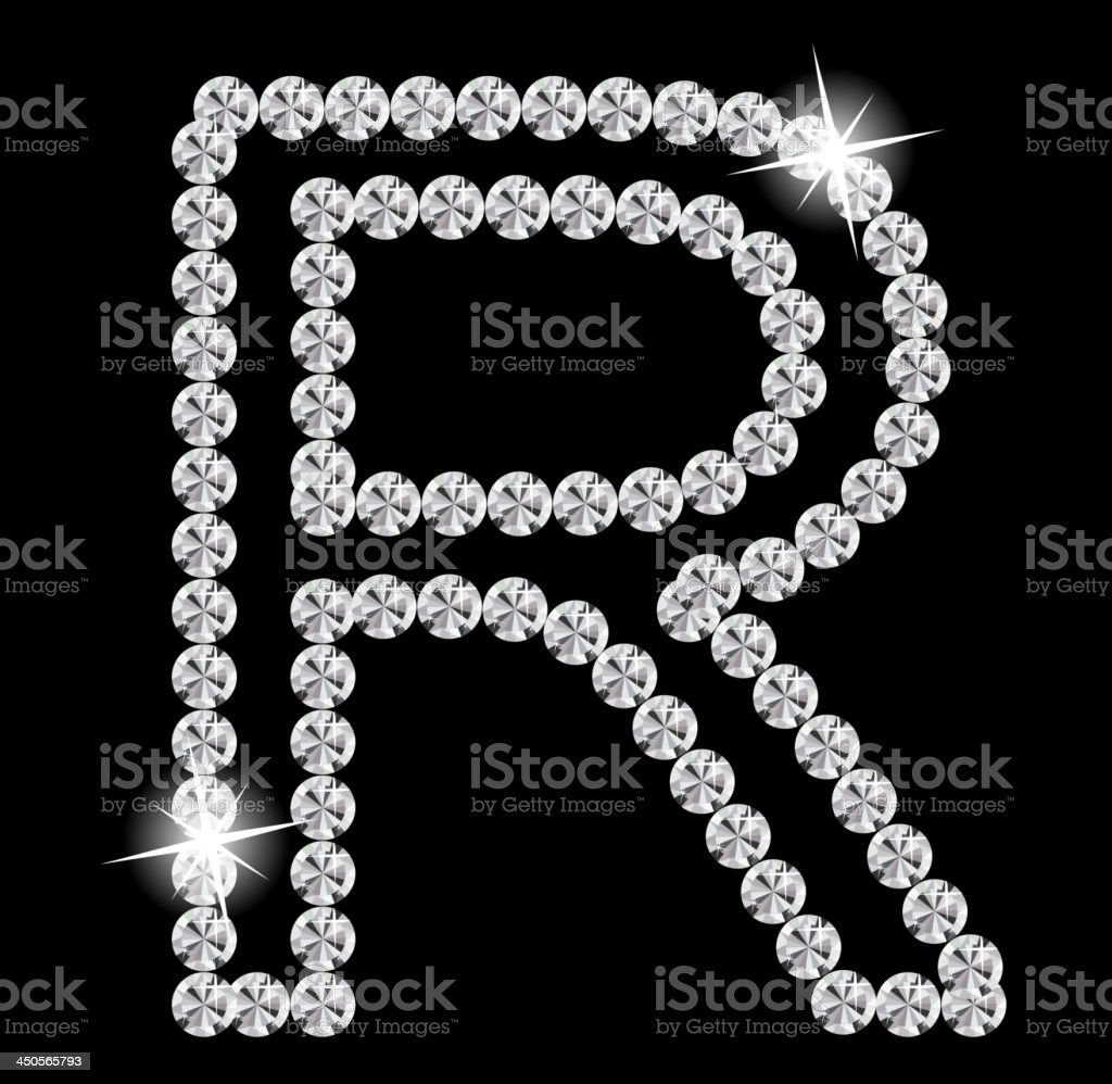 Diamond Alphabet vector illustration royalty-free stock vector art