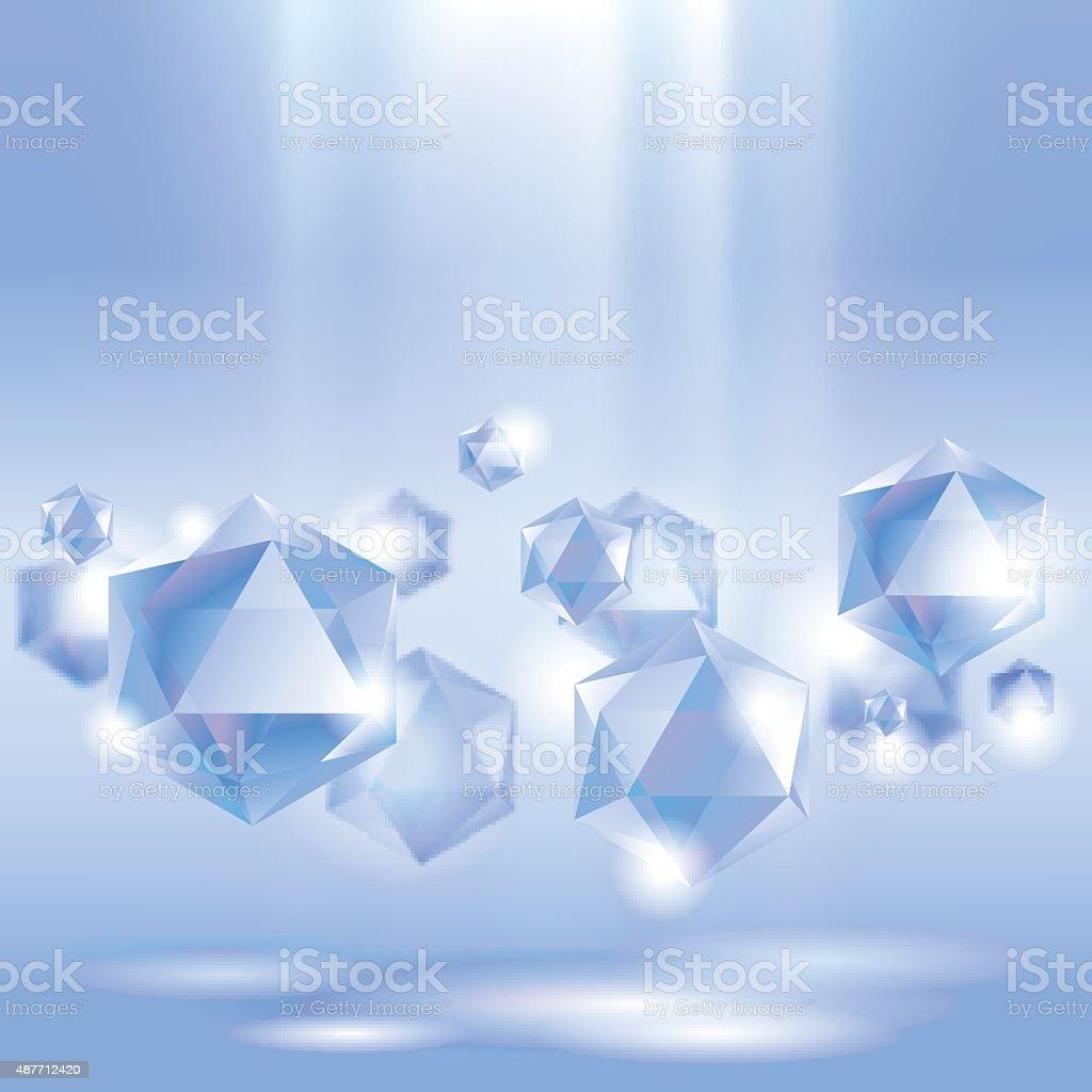 Diamond background vector art illustration