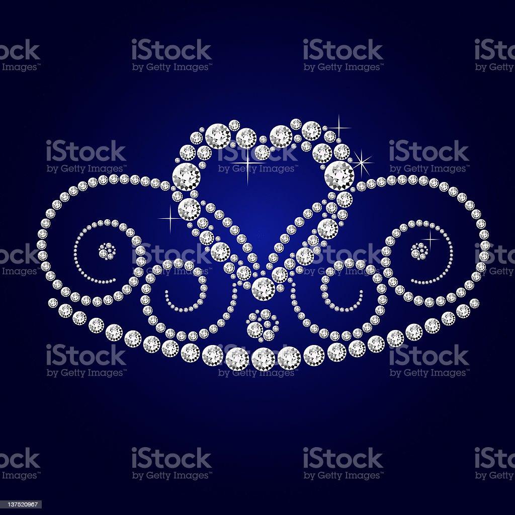 diamond crown stock photo