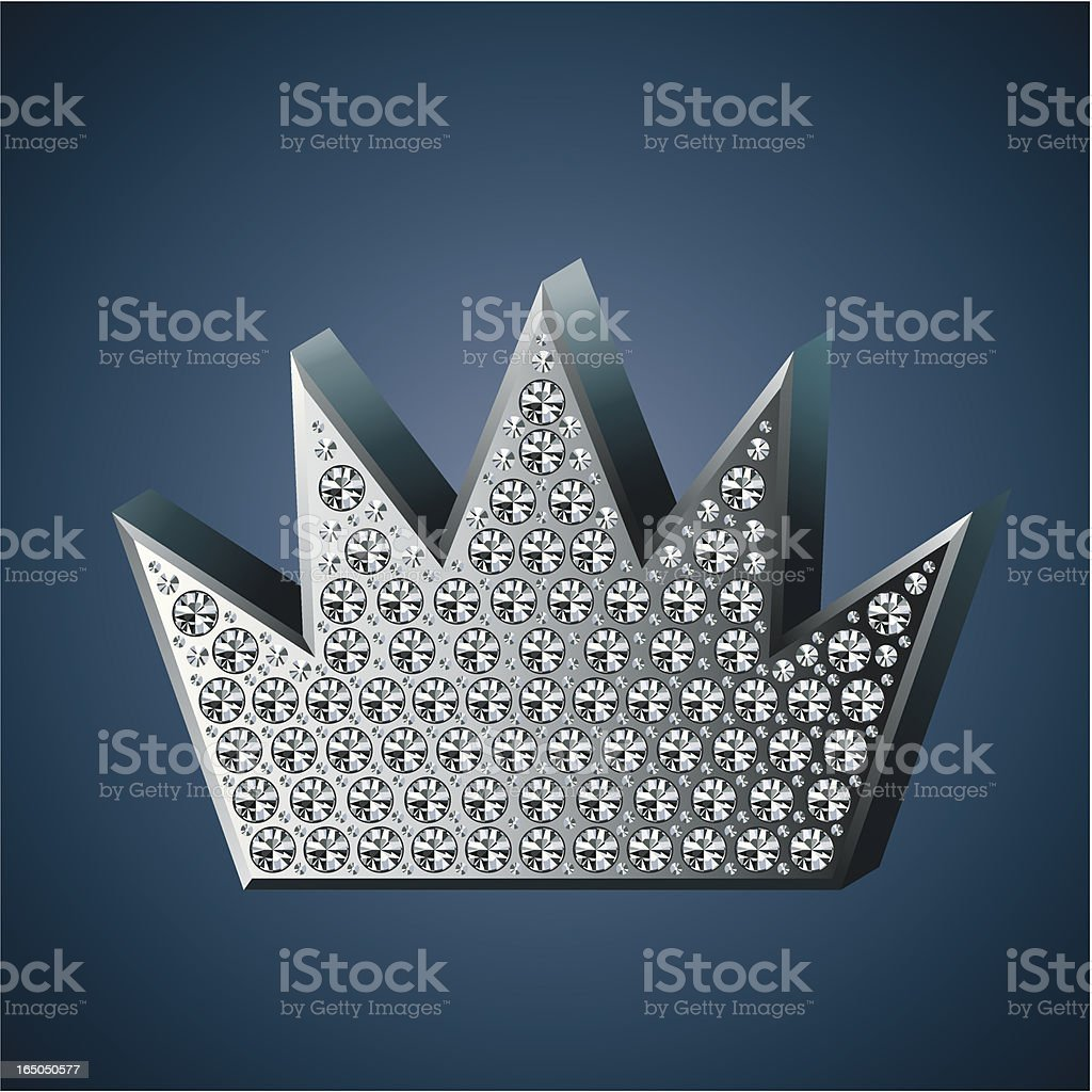 diamond crown royalty-free stock vector art