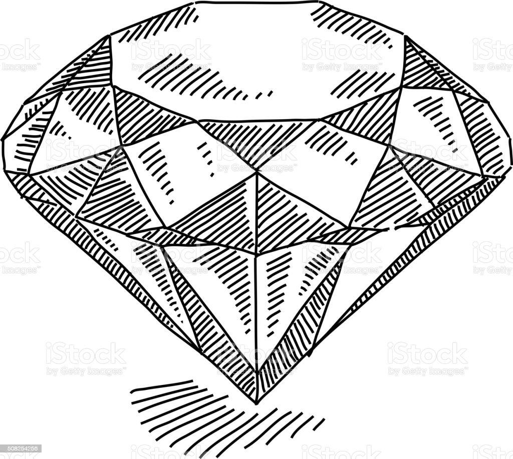 Diamond Drawing vector art illustration