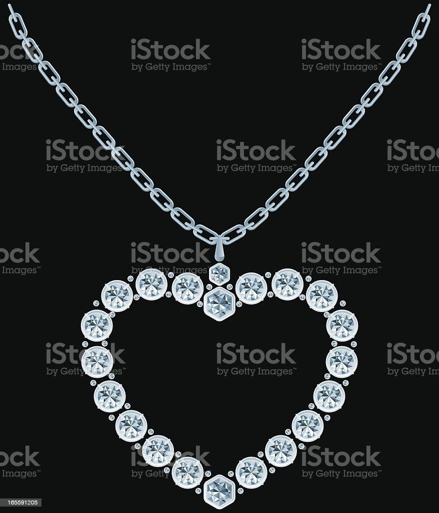 Diamond heart vector art illustration