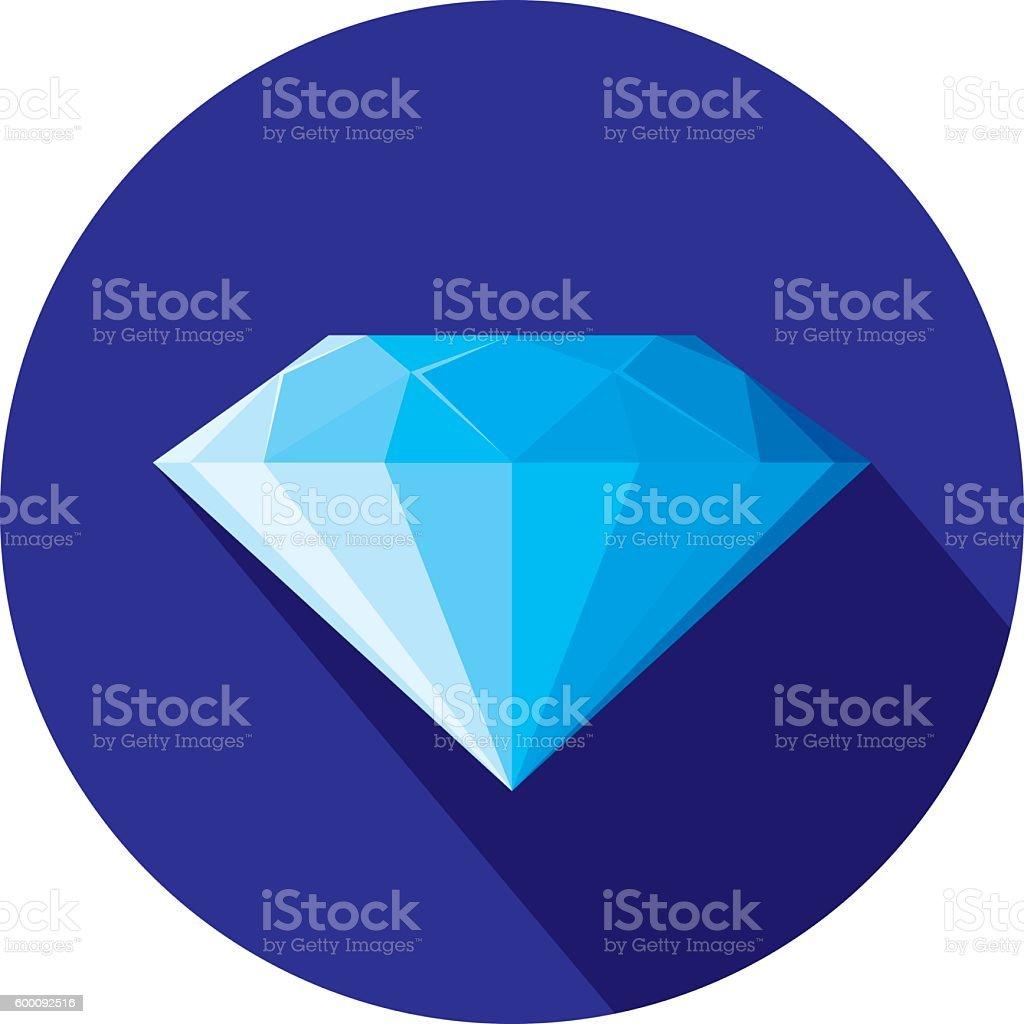 Diamond Icon Flat vector art illustration