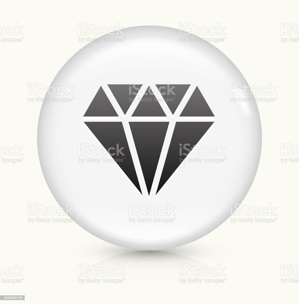 Diamond icon on white round vector button vector art illustration