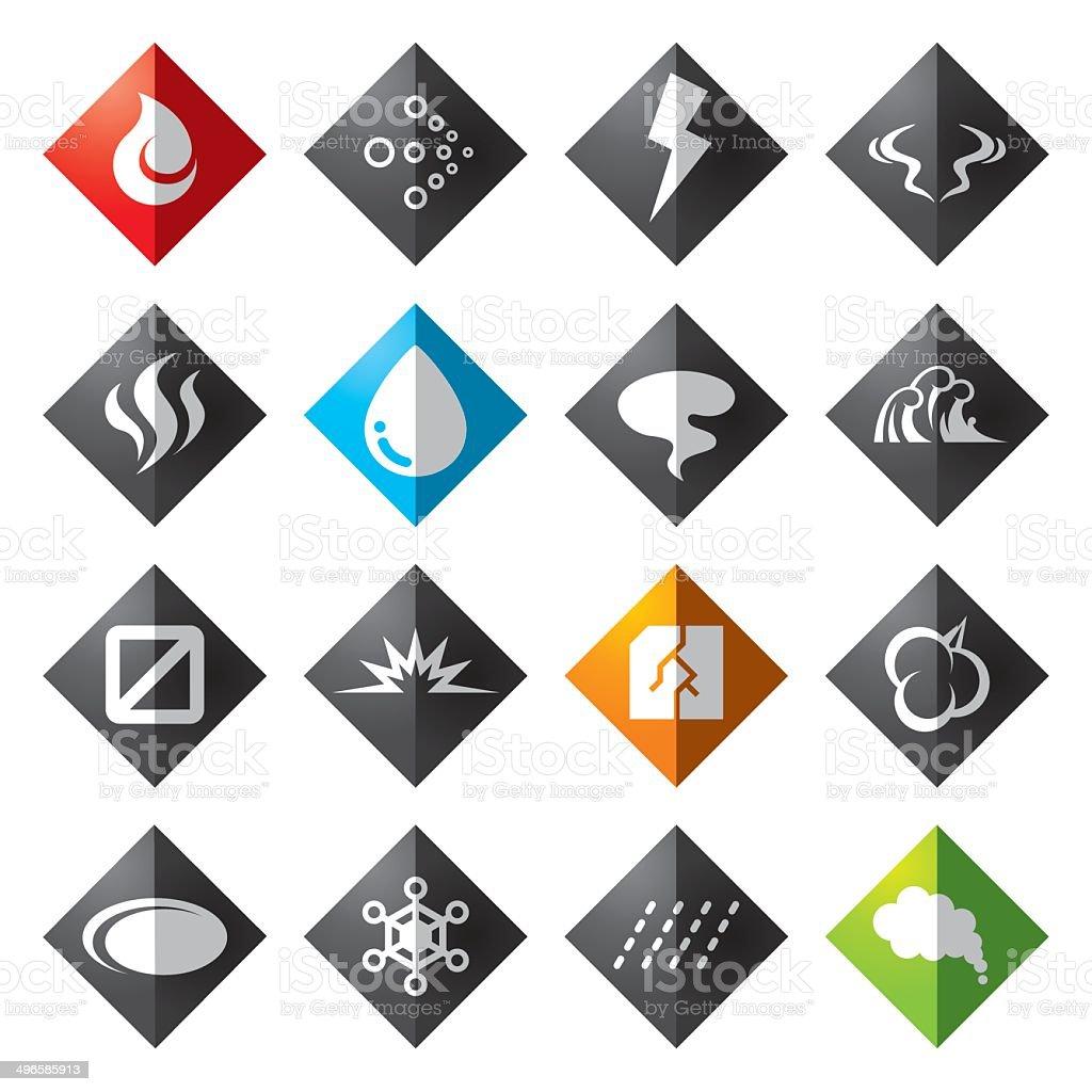 Diamond icon vector art illustration
