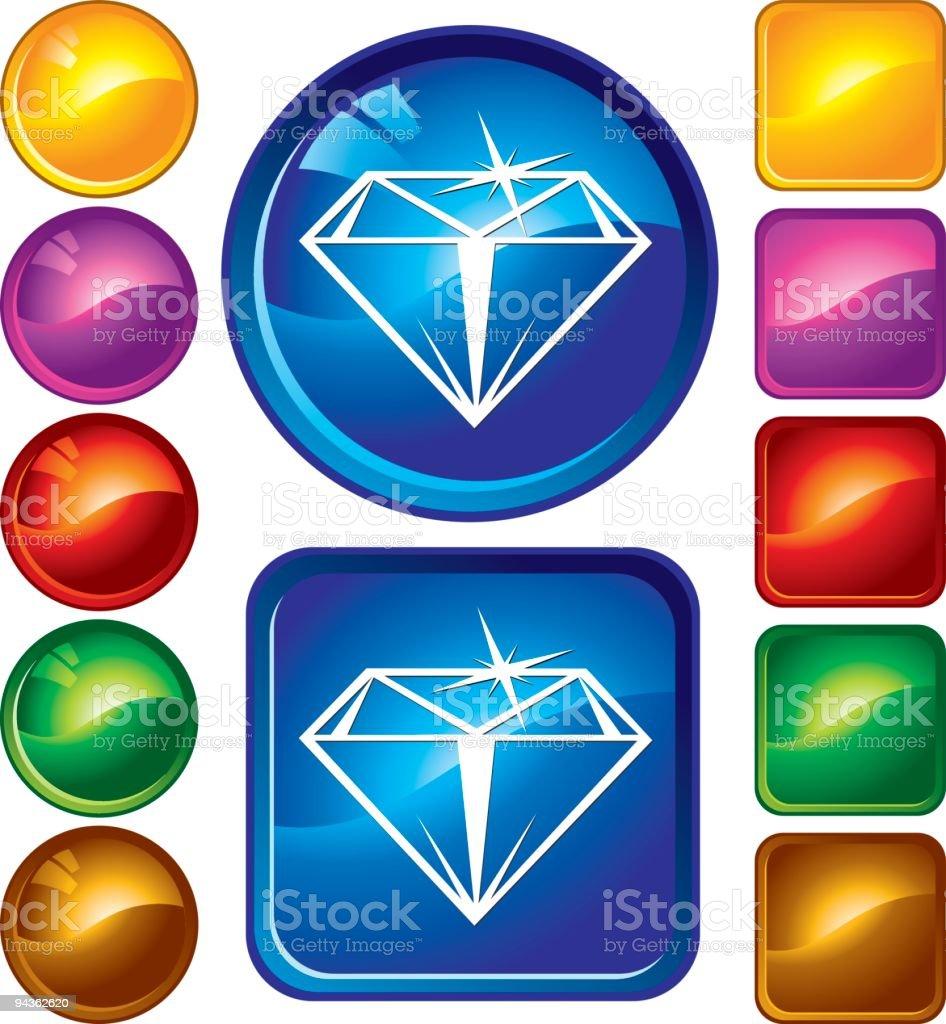 Diamond Icons royalty-free stock vector art