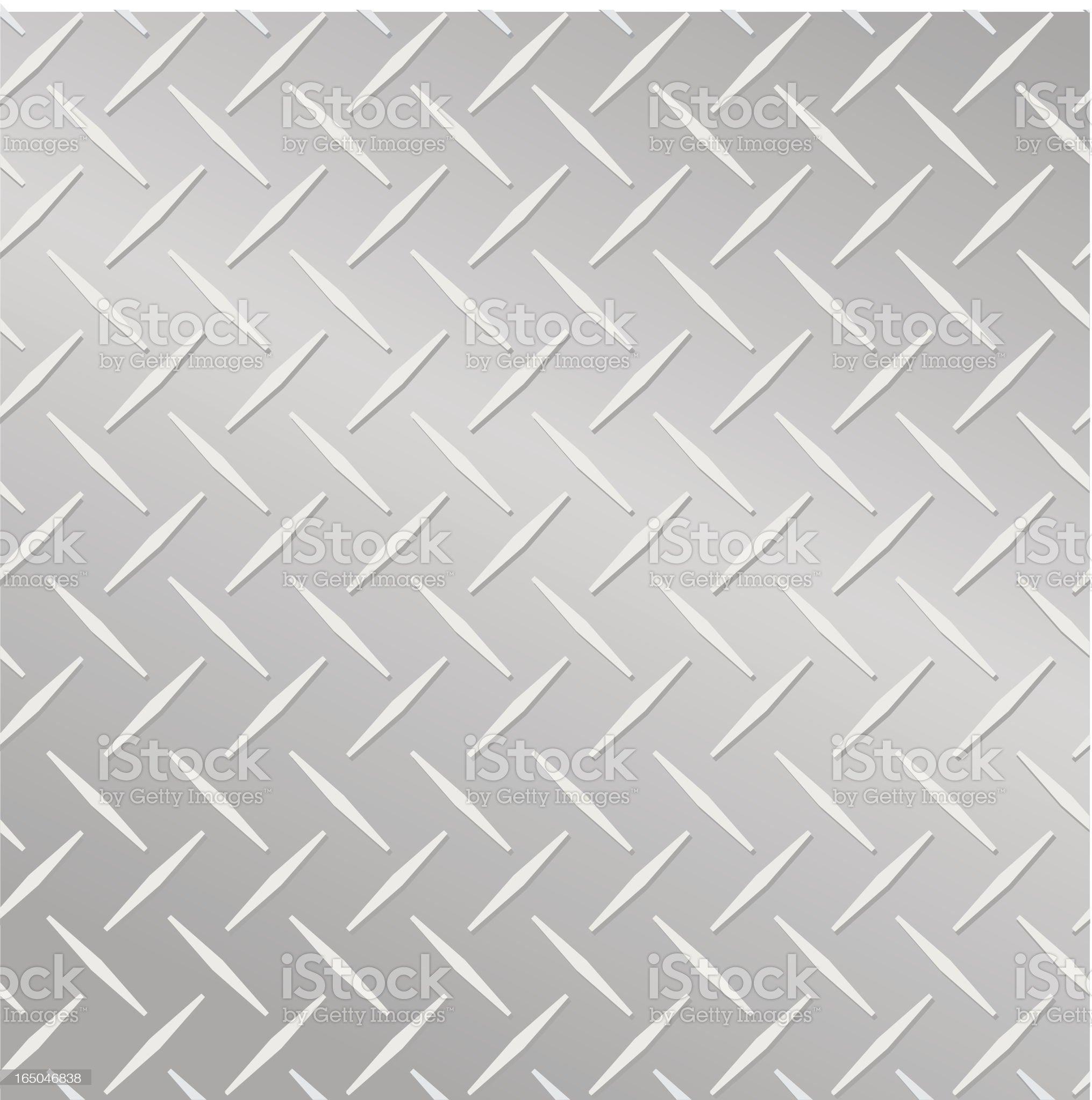 Diamond Metal Plate Illustration royalty-free stock vector art