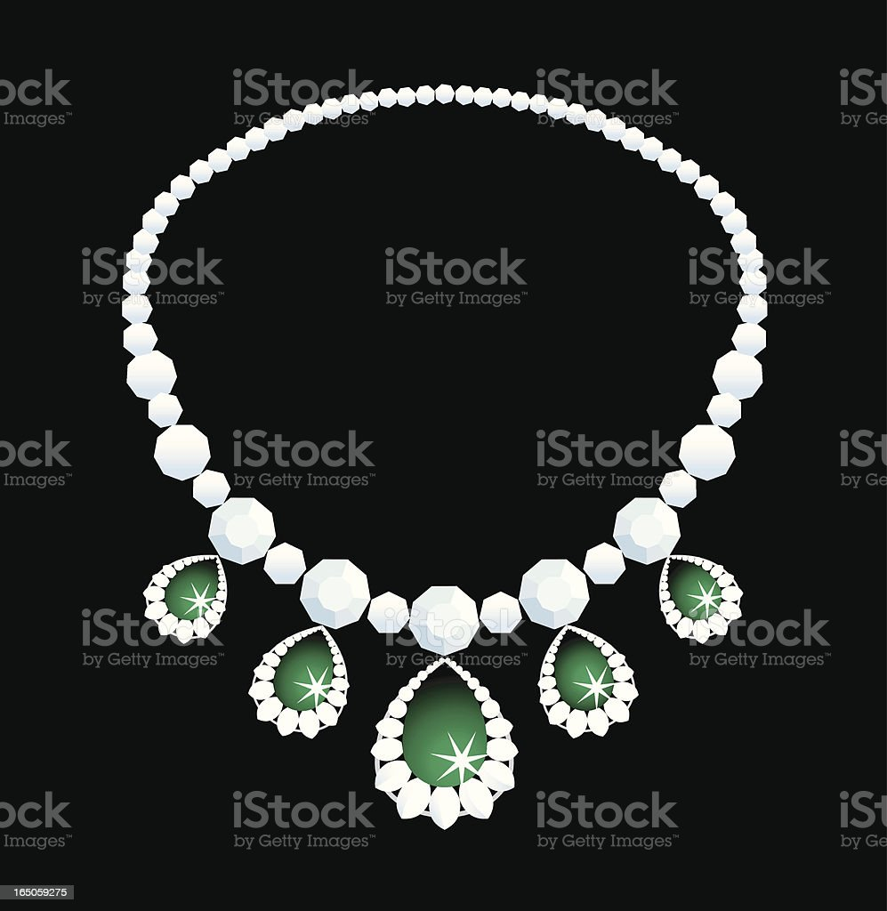 Diamond necklace royalty-free stock vector art