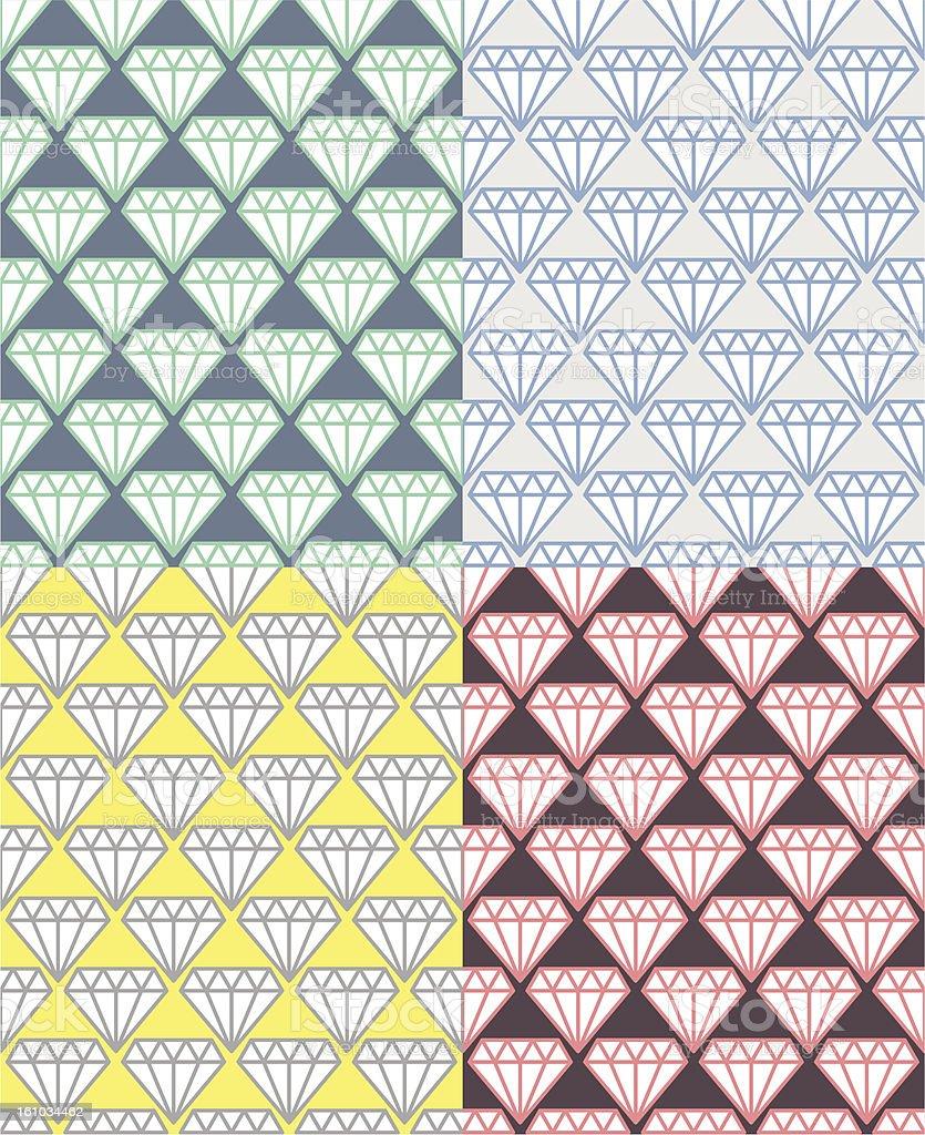 Diamond Pattern 01 vector art illustration
