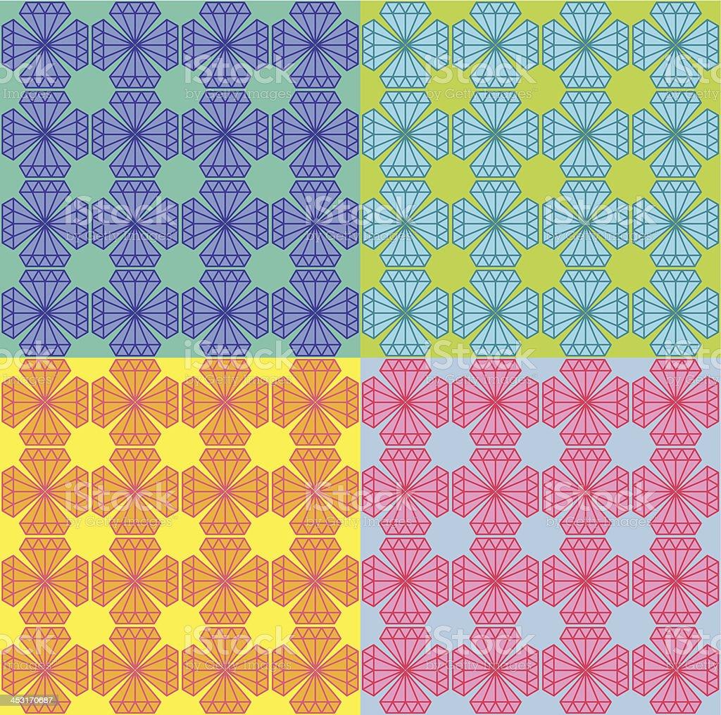 diamond pattern 04 vector art illustration