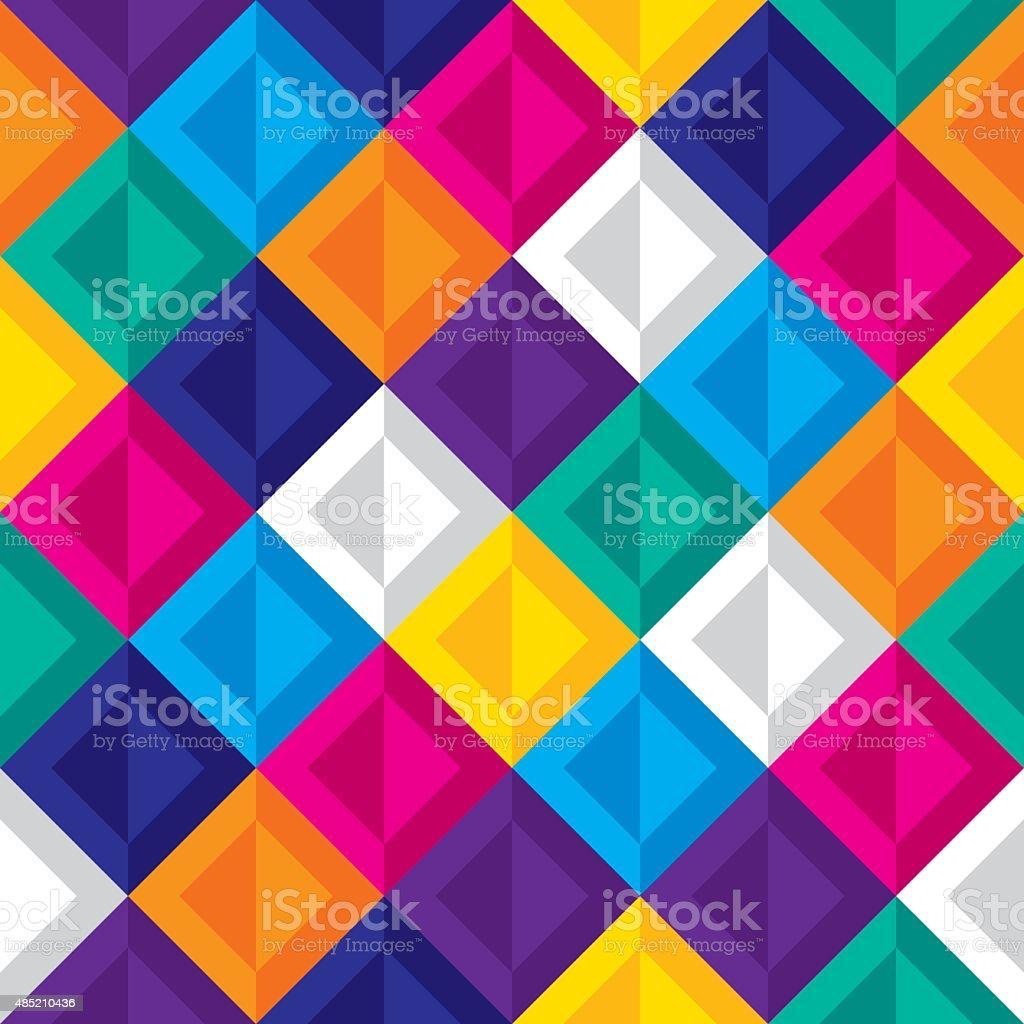 Diamond Pattern Colorful vector art illustration
