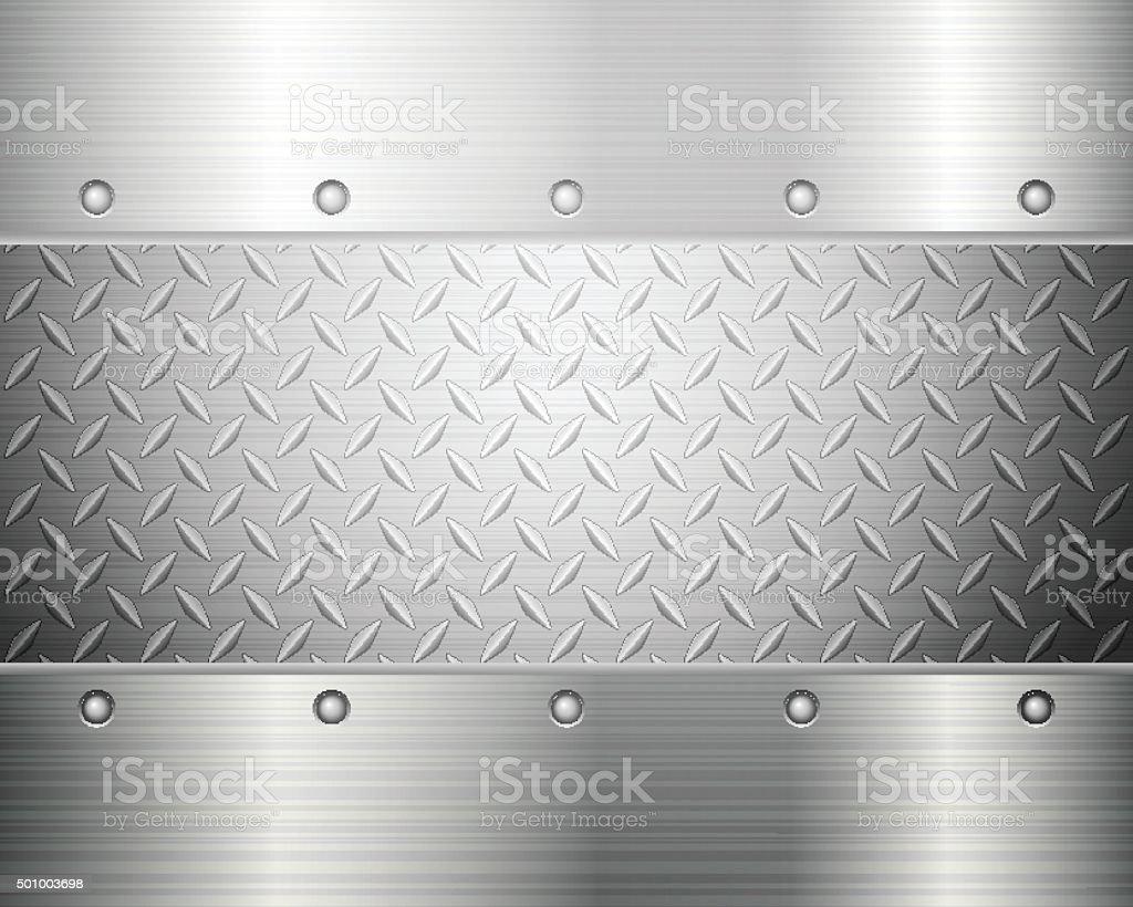 diamond plate background vector art illustration