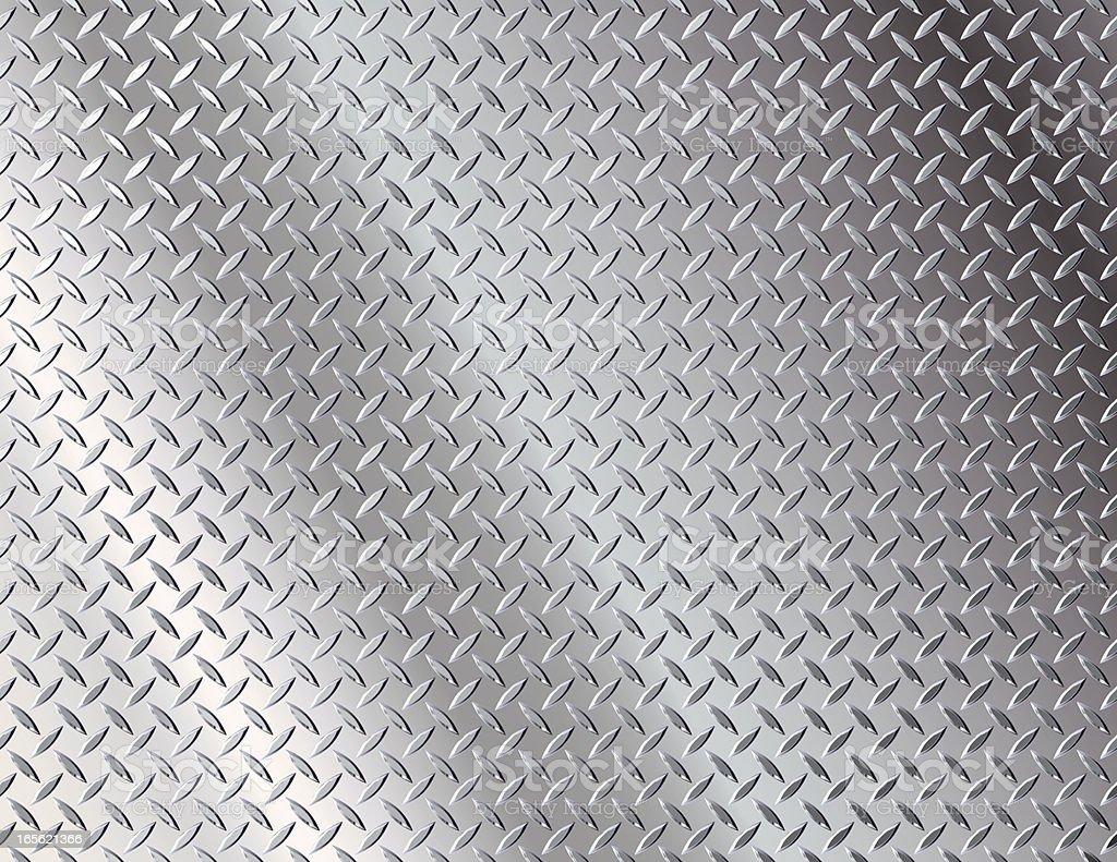 Diamond Plate Chrome vector art illustration